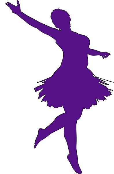 Silhouette ballerina adulta viola